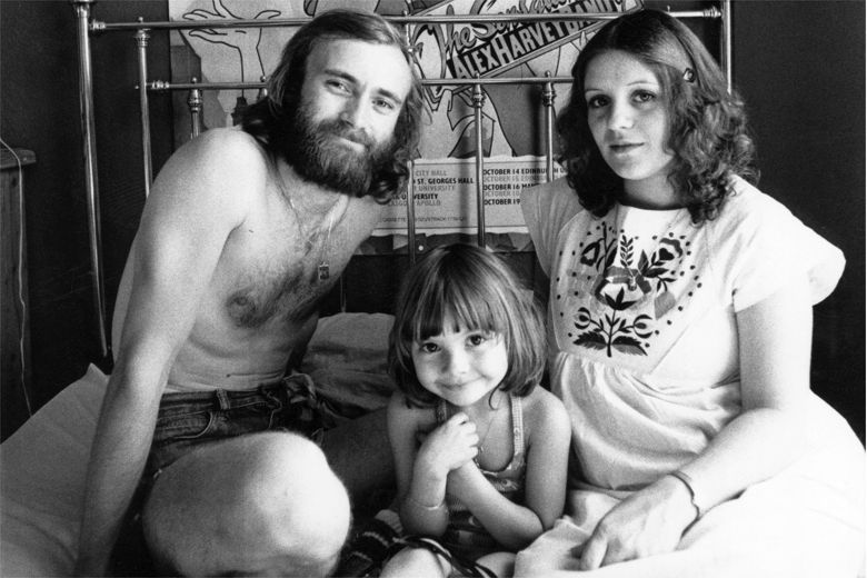 phil collins andrea and child
