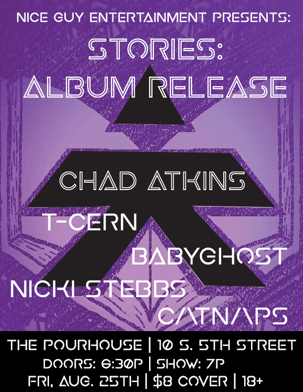 Chad Atkins - Stories - Release Party Flyer