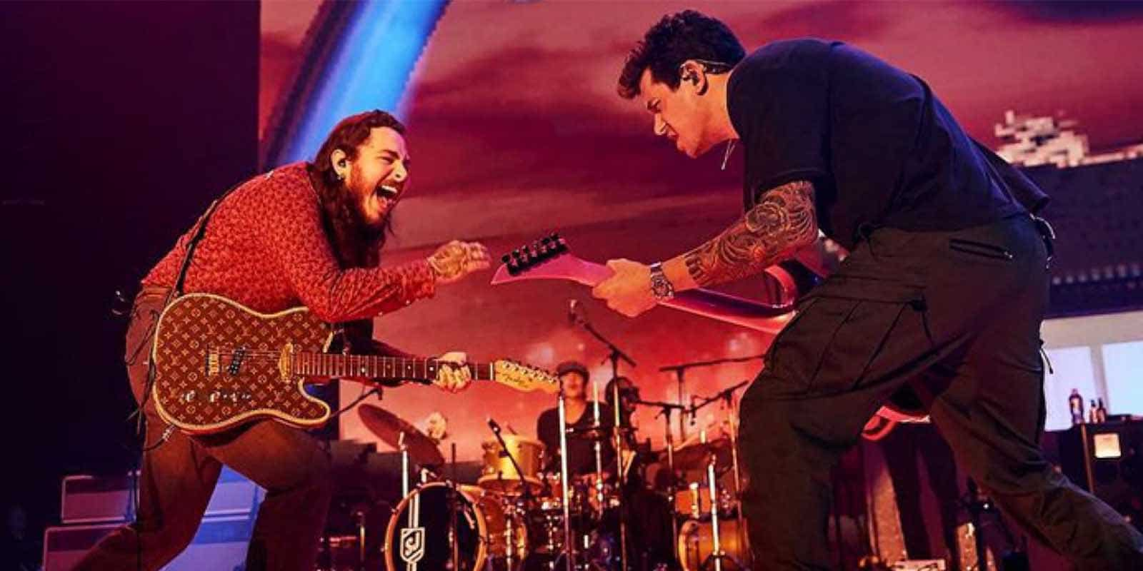 john mayer and post malone performing together on stage