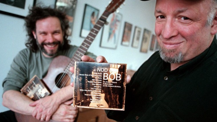 Red House Records founder Bob Feldman, with musician John Gorka