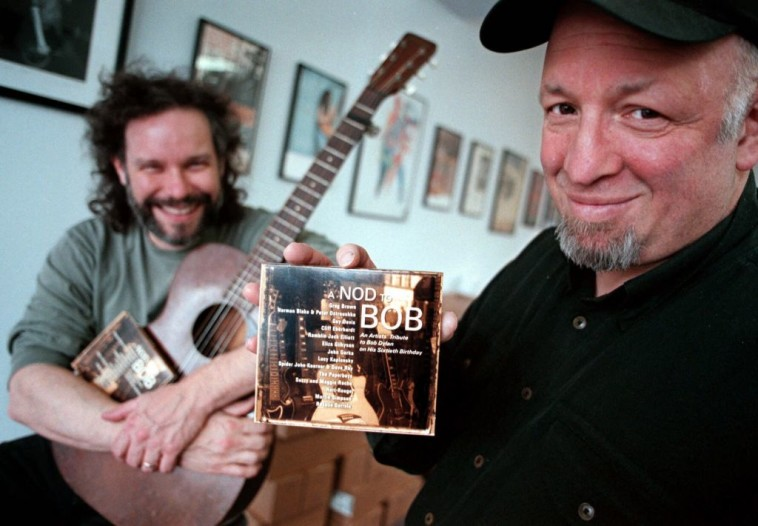 Red House Records founder Bob Feldman, with musician John Gorka