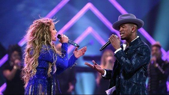 Neyo and Jennifer Lopez Armory Minneapolis Super Bowl