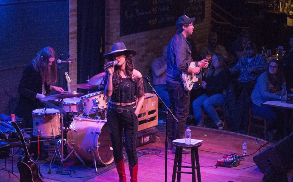 Singer-songwriter Lindi Ortega with Ryan Brewer and James Robertson