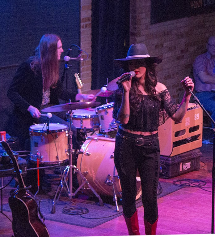 Lindi Ortega and drummer Ryan Brewer