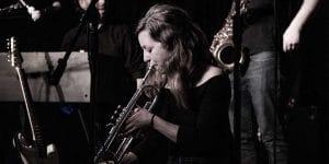 Sabby White female trumpet player