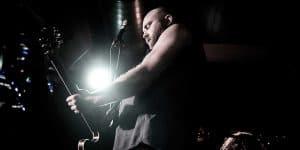 Gabe Douglas playing guitar