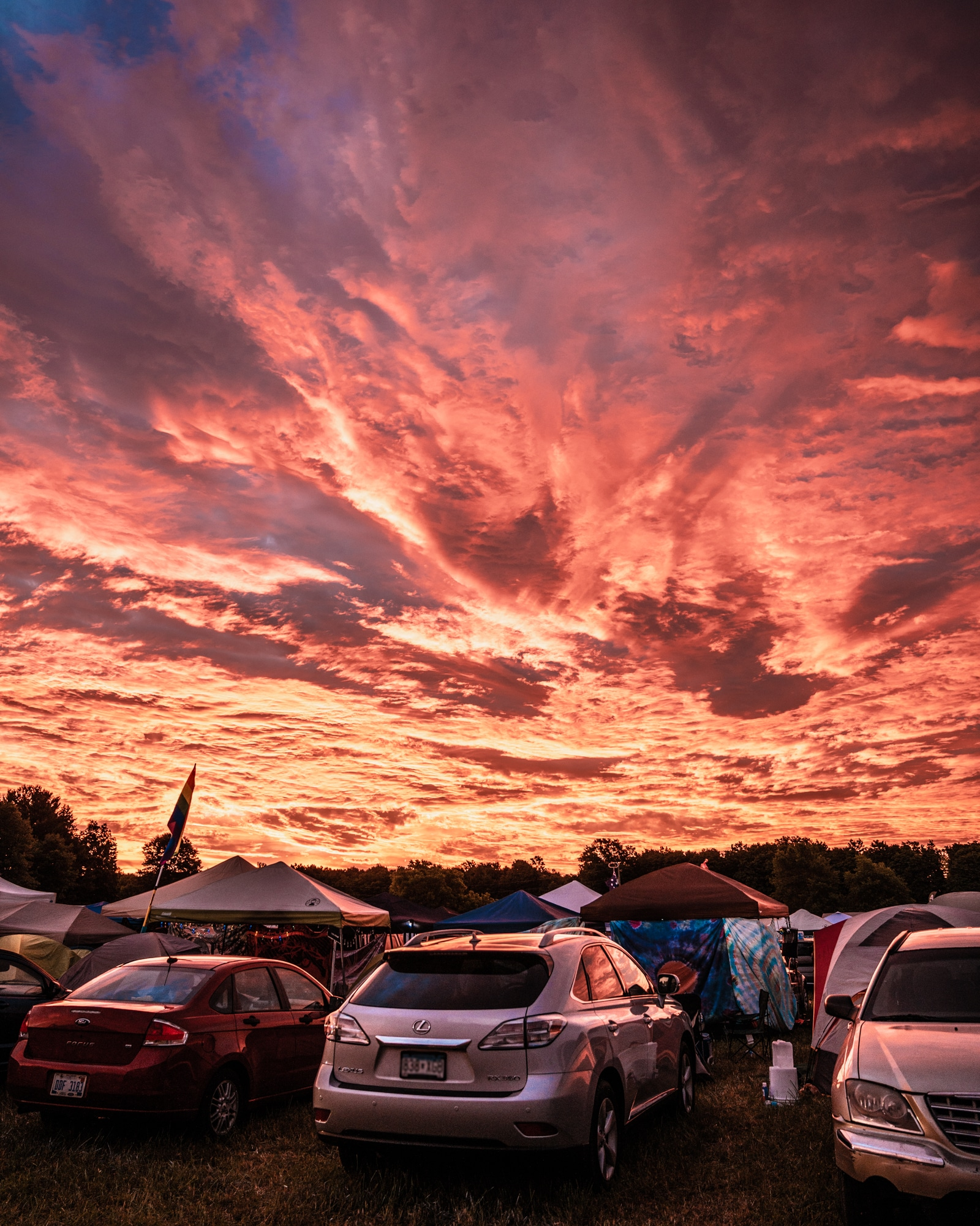 Friday Sunrise at Music In MN's Camp - Photo by Chris Taylor
