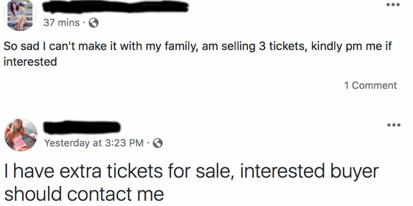 Facebook Ticket Scams and How To Avoid Them