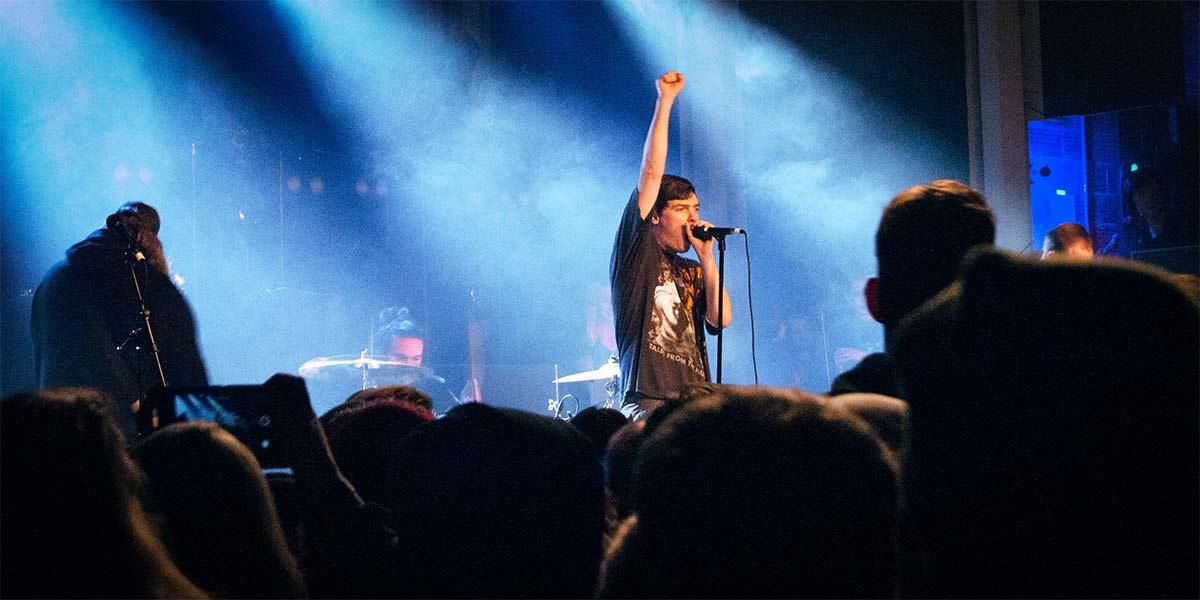 Bryan Garris of Knocked Loose Varsity Theatre Disease Tour November 14 2018