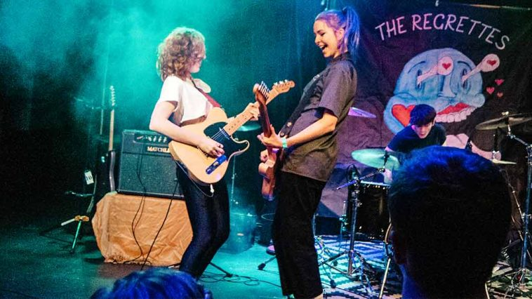 Lydia Night Genessa Gariano of The Regrettes November 29 2018 Amsterdam bar and hall st Paul minnesota
