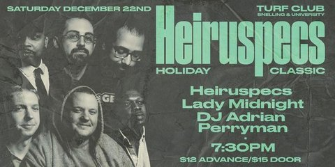 Heiruspecs Holiday Classic poster. From their Facebook page.