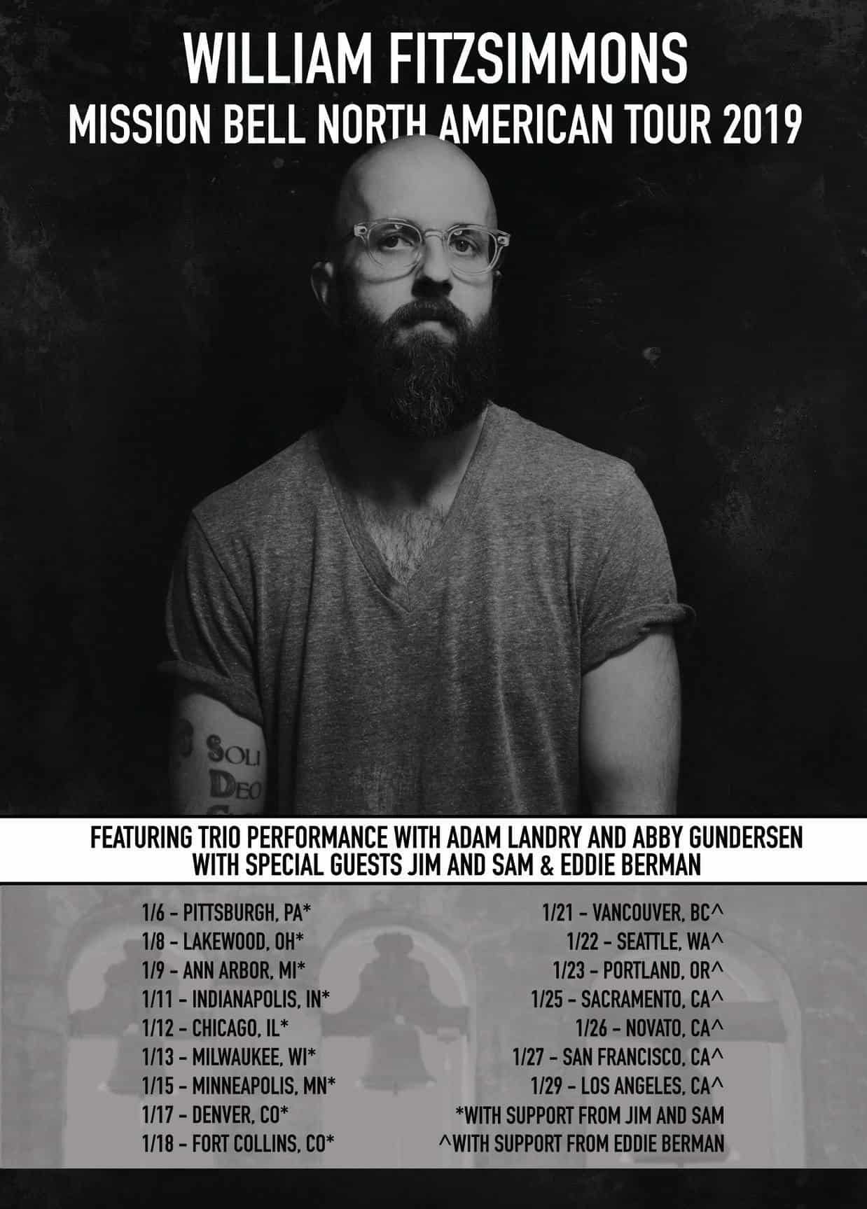 William Fitzsimmons Mission Bell Tour