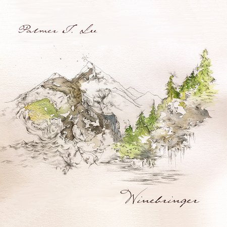 Winebringer cover photo (artwork by Lindsey Schoeneman, design by Autumn Seguin for Team Love Records)