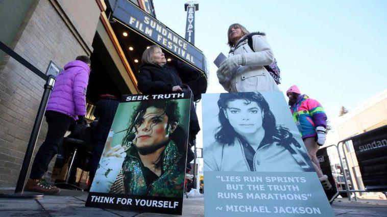 Michael Jackson Leaving Neverland Sundance Film Festival Protesters
