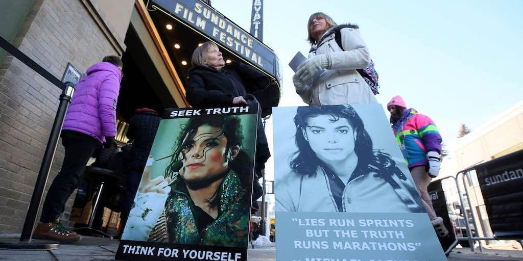 Michael Jackson Leaving Neverland Sundance Film Festival Protesters