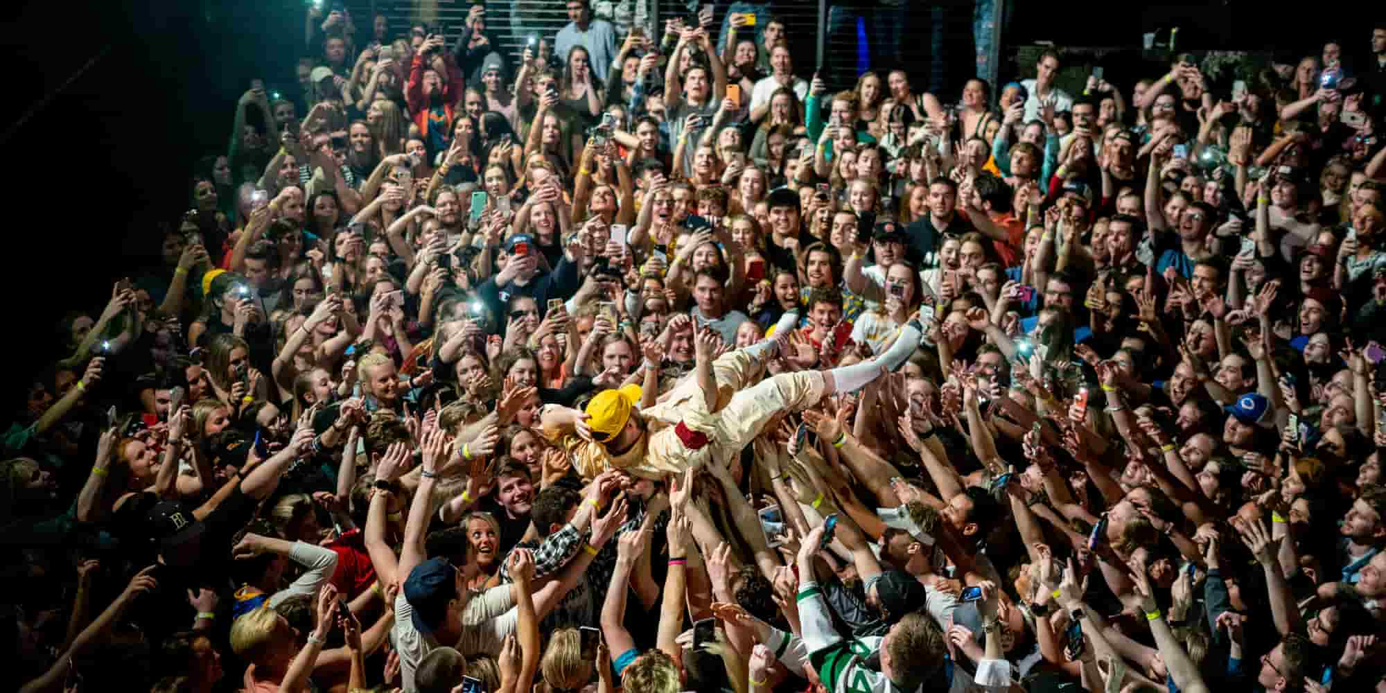 Quinn XCII Crowd Surfs From Tour With Love Myth