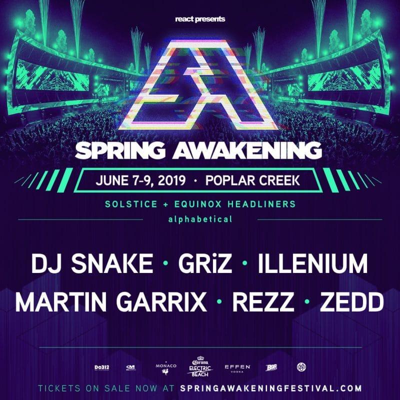 Spring Awakening to host DJ Snake, REZZ, Zedd, Martin Garrix, and more ile ilgili görsel sonucu