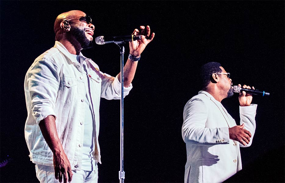 Wanya Morris and Nathan Morris of Boyz II Men Ordway Center for Performing Arts St Paul Minnesota March 31 2019