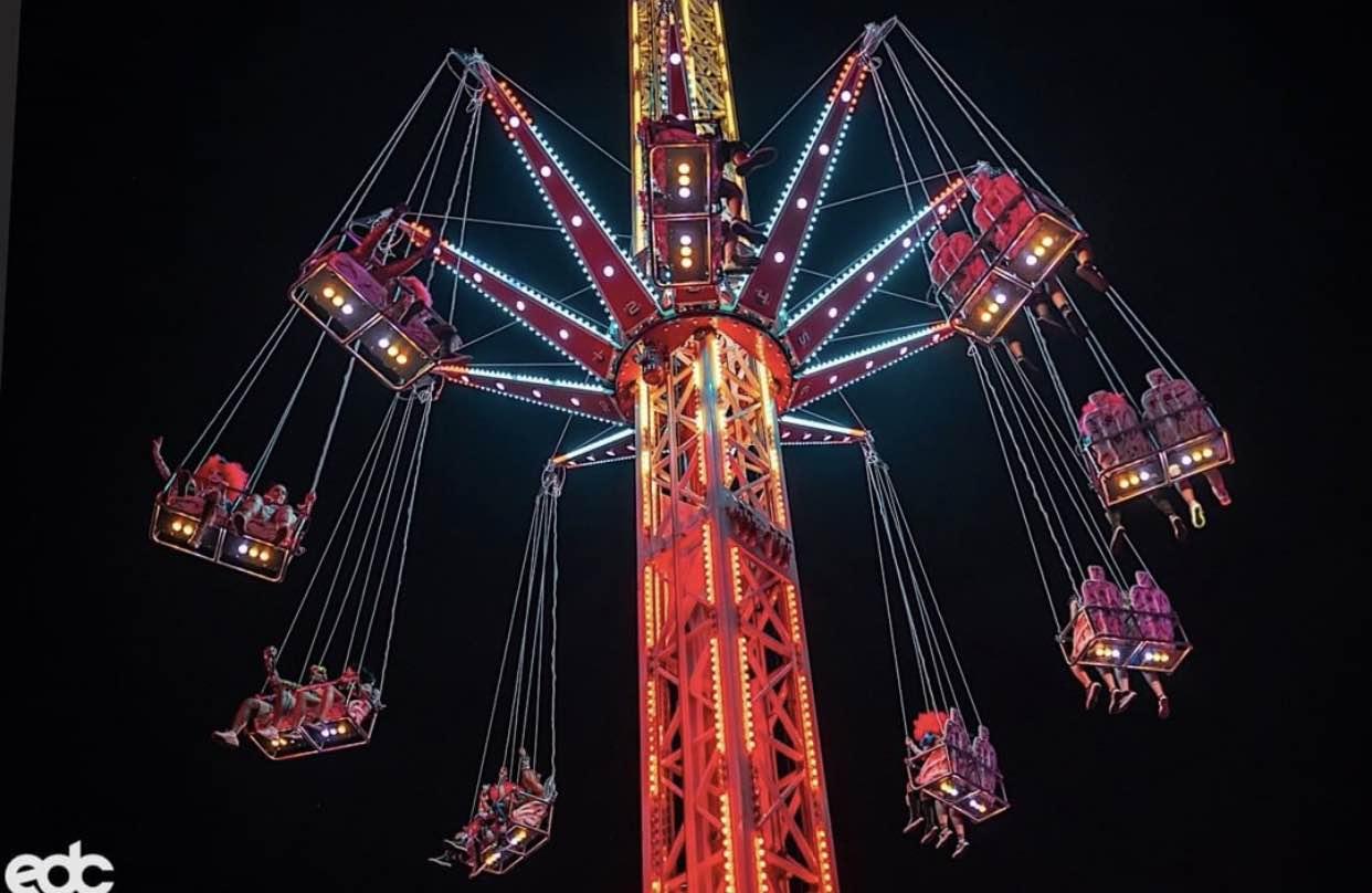 EDC Electronic Daisy Carnival Rides Amusement Rave EDC Las Vegas