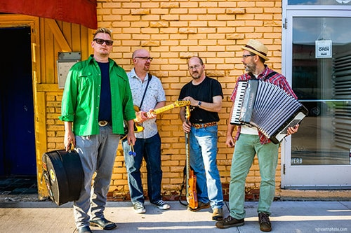 Erik Brandt and the Urban Hillbilly Quartet (photo by Nick Greseth)
