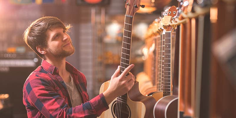 Types of People at Guitar Center Shy guy