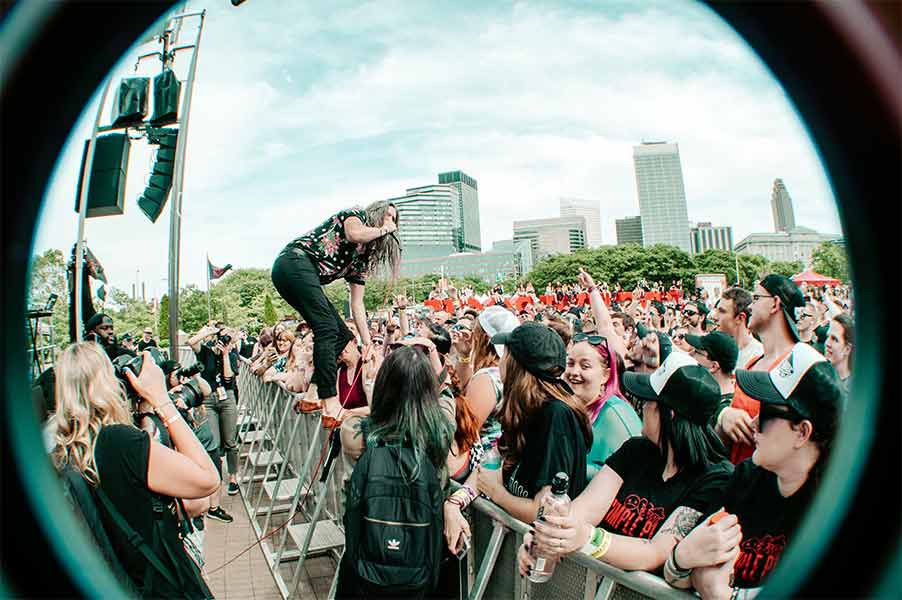 Josh Head of Emery Warped Tour 25th Anniversary Opener Cleveland Ohio Rock and Roll Hall of Fame June 8 2019