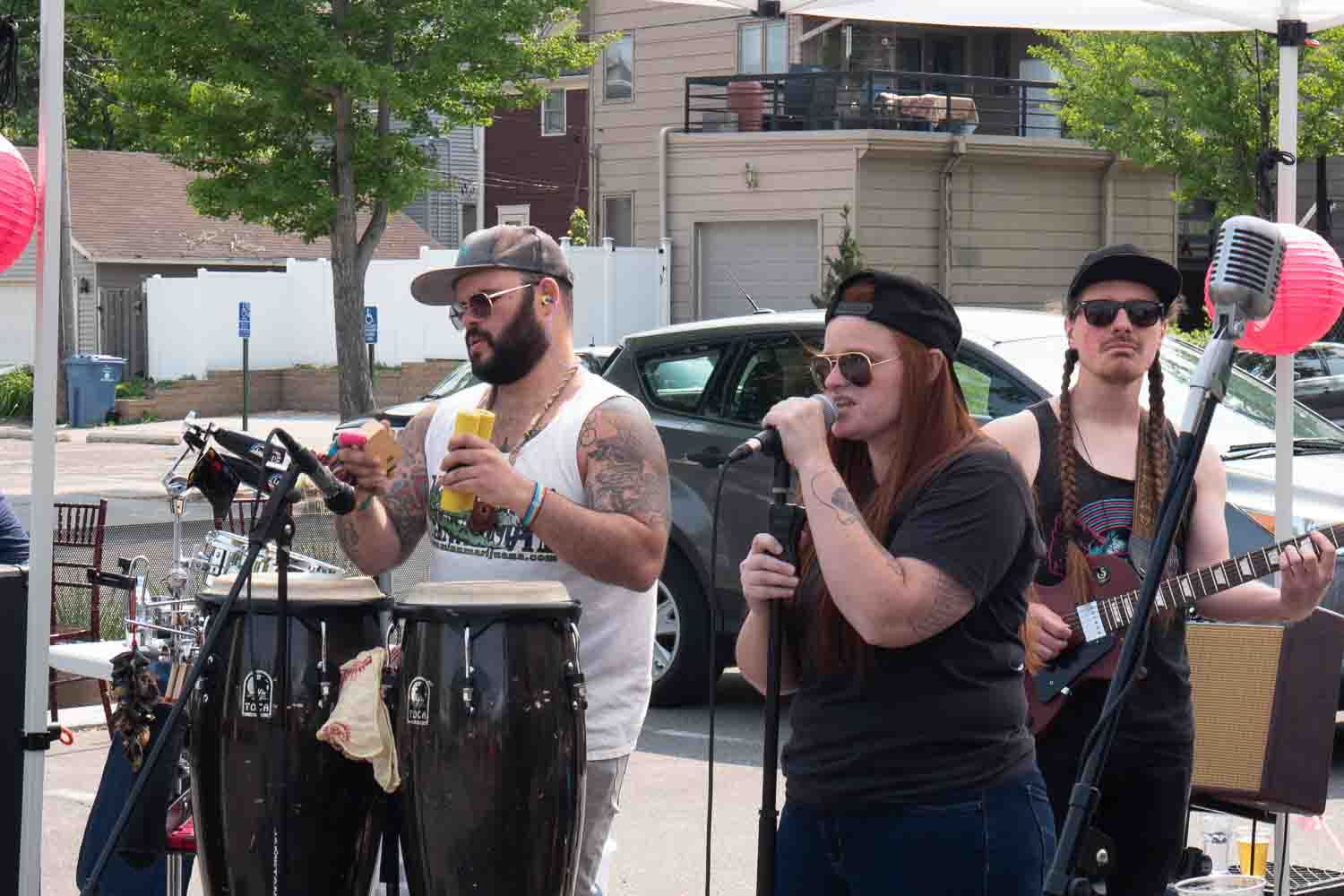 Mae Simpson performing at open streets Minneapolis
