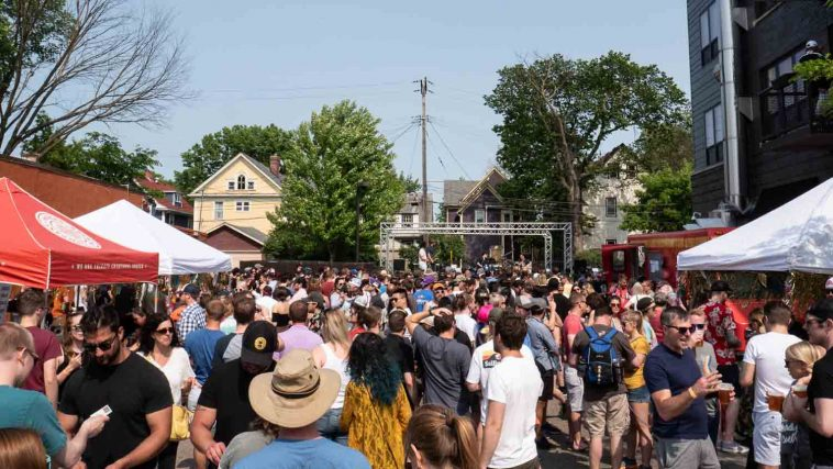 crowd at open streets minneapolis
