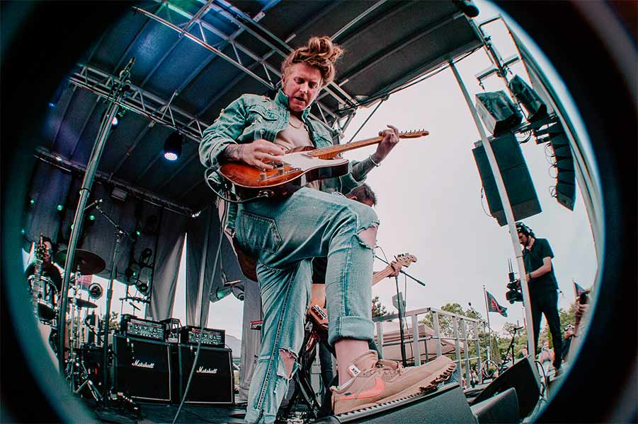 Travis Clark of We The Kings Warped Tour 25th Anniversary Opener Cleveland Ohio Rock and Roll Hall of Fame June 8 2019