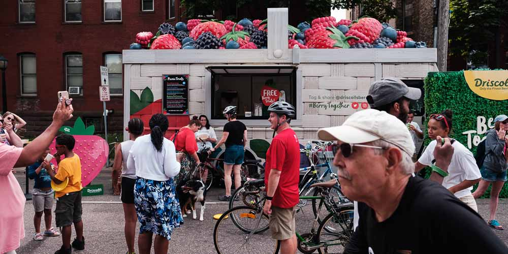 Driscoll's Berries at Open Streets Franklin