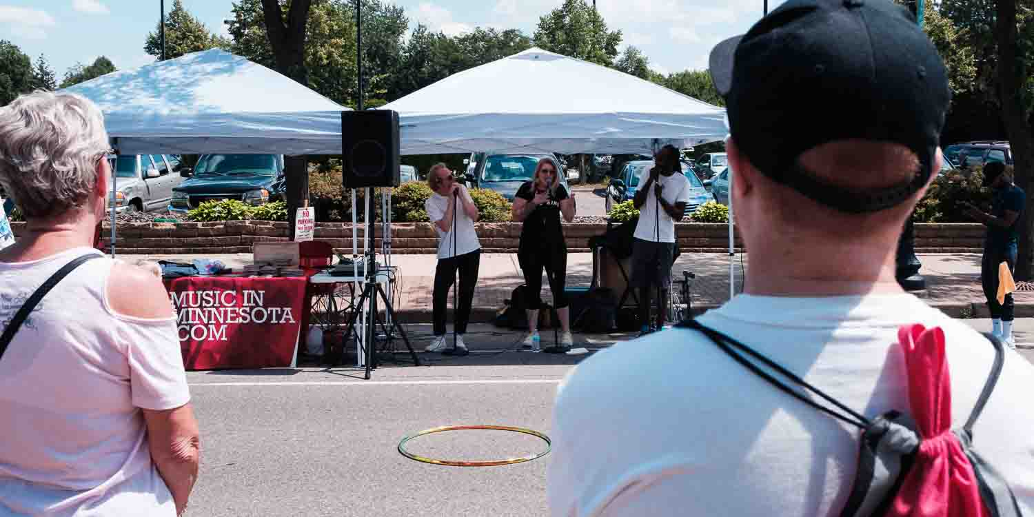 Major Days performing at Open Streets NE.