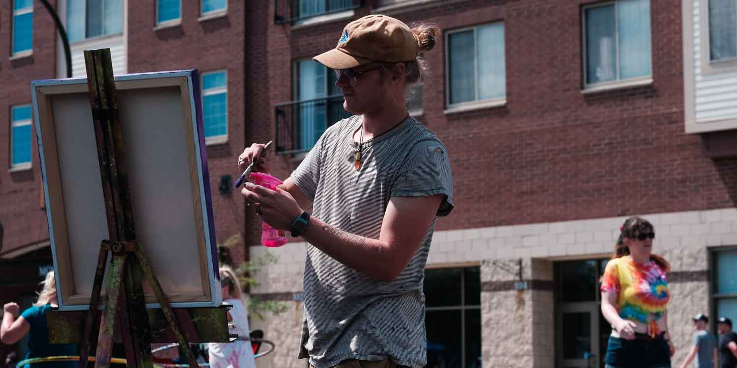 Open Streets NE. Tice Delsol painting.