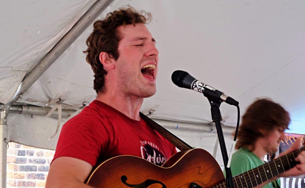 Sheep for Wheat lead singer Andrew Hudson