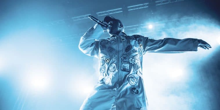 A$AP Ferg performing live on stage in Minneapolis