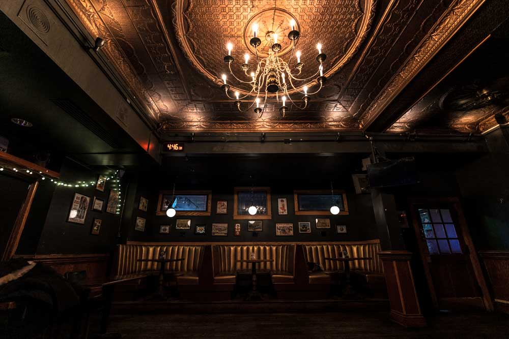 Mortimer's Stage Seating - Photo by Chris Taylor Local Music Twin Cities Smouse in the house Minneapolis Venue Tour