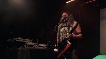 BadNrad plays keytar at Amsterdam Bar and Hall